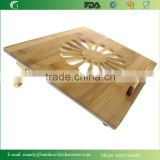 Natural Eco-Friendly Bamboo Cooling Vented Laptop Desk/Table Stand Up