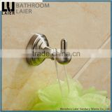 No.13135 Wholesale Prices Modern Bathroom Stainless Steel Brush Nicked Wall-Mounted Bathroom Accessories Robe Hook