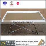foshan furniture antique gold dining room set glass mirror table