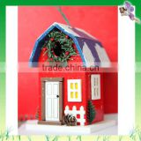New Year's Ornament X'mas Decorative Colorful Handmade Christmas Bird House For Sale