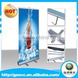 Custom Portable out door advertising aluminium Roll Up banner with Bold Aluminum alloy China factory manufacturer.