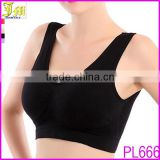 Wholesale Plus Size Seamless Bra With Removable Pads Sexy Women Fashion Shapewear Genie Sports Style Black Blue