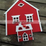 Wall Hanging Decoration Creative Children Room Decorative Small Red House False Window Mediterranean Style