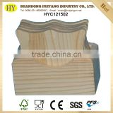 factory supply custom unfinished wooden tea coaster