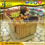 Department store portable fruit display stand shelving for vegetables