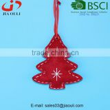 BSCI Audit Factory Cheap Price Christmas decoration Felt Ornaments non-woven hanging tree