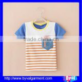 OEM Wholesale Summer Pocket Stripe Kid Shirt Pattern