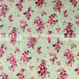 High Quality Pink Flowers Blossoms Print Fabric New Design Cotton Textile