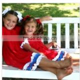 flag-4th of july Peasant Style Dress Toddler Dress independence girls 100% cotton summer ruffle pettidress cute casual dress