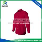 Bright Red Top Quality Cotton Brand Name Men Dress Shirts Hot Sales