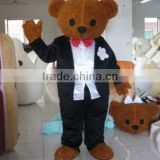 hot sale wedding brown teddy bear mascot costume for adults