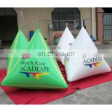 New style! blue triangular buoy for water event promotion