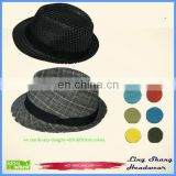 LSC-013 Wholesale 100% cotton Hat wholesale cotton vintage wholesale cheap men fedora hat