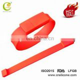 Christmas Gifts Custom Logo Silicone Wristband/bracelet Usb Flash Drive