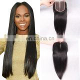 Beauty productions new middle part 4x4 human hair lace closure virgin malaysian hair