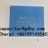IGBT snubber capacitor 1uF 1000VDC Polypropylene film capacitor for UPS Inverter induction heater