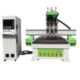 PVC wood door production line CNC wood router machine 1325 with three spindles ATC CNC router price for sale