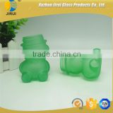 New Style Green Bear Shape Glass Jar 70ml glass candy jar
