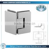 High quality brass and stainless steel well-polished 135 degree adjustable glass to glass shower glass door hinges