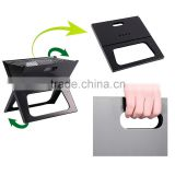 Mini size charcoal type X note book bbq grill X shape floding bbq