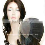 silk top lace front wig--100%human hair