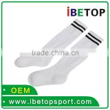 cool white wholesale cotton customized Plain polyester soccer sock