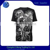 Trendy 100%Cotton Short Sleeves Printed Crew Neck Men T shirt