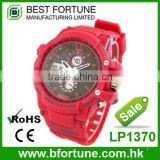 LP1370 2016 new fashion red plastic 3 atm china digital watches