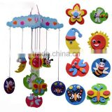 EVA art work various styles beautiful in color children kids aeolian bells shape hang decoration