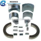 LNG9 Grade Permanent Cast / Sintered AlNiCo 5 Magnets Ring, Block, Rod, Arc