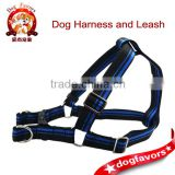 Trade Assurance Dog Favors Blue and Black High Quality Nylon Dog Harness with Metal Buckle
