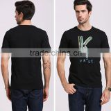black Euroleague men t-shirts wholesale summer men's shirt sports short sleeve man tshirts producer