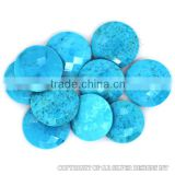 blue turquoise wholesale semi precious loose rare briolette cut loose round gemstone supplier,fine silver handmade jewelry stone
