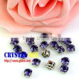 Top quality Crystal rhinestones with claw setting for garment accessories