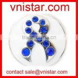 vnistar sapphire crystal cancer awareness ribbon snap charm button NC628-6, fit button ring and button bracelet