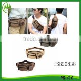 Men's Canvas Hiking Travel Belt Hip Bum Fanny Pack Waist Chest Sling Bag Sport Pouch
