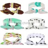 Hot-sales Baby floral Headband Infant Headband Toddler turban Headband cotton kids knotted headband wh-1750