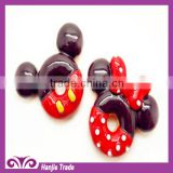 Kawaii sweet waffle mice resin hair cabochons for children's decorations