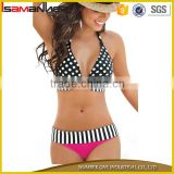 Summer sexy dot printing halter ladies sexy hipster micro tube bikinis