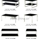rectangle double shelf simple wood computer table for internet cafe factory sell directly FZ35