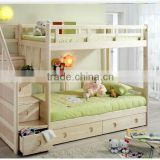 Twin over twin wood staircase bunk bed with storage                                                                         Quality Choice