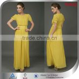 yellow casual pleated swing dresses made in india import summer newest vestidos casuales bridal women maxi dresses