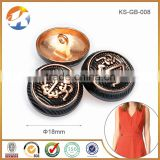 Garment Accessories Alloy Metal Buttons For Jackets                                                                         Quality Choice