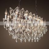 Vintage Antique Luxury Crystal Chandelier Wrought Iron Pendant Hanging Lamps Lights Lighting CZ2553/30