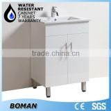 2015 Hangzhou Bath Product 600mm Floor Mounted White Concise Modern Bathroom Cabinet For The Australia Market