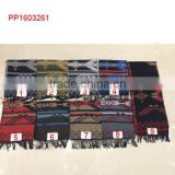 2016 striped wave printed cashmere fabric wholesale scarf