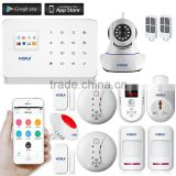 New KERUI G18 with gas detector and HD wireless camera wifi gsm gprs home security alarm system