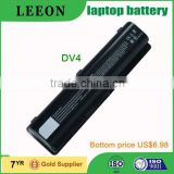 LEEON laptop battery for for HP DV4 DV5 DV6 G60 G70 CQ65 DV4-2000 10.8V 4400mAh rechargeable