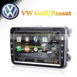 8 inch car radio 2din gps with 3g ipod for VW Golf