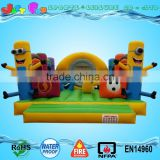 yellow capsule inflatable fun city for kids, inflatable big combo for children
